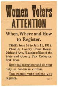 Women Voted in Texas in 1918 - from the Carey C. Shuart Women's Archive & Research Collection, UHouston